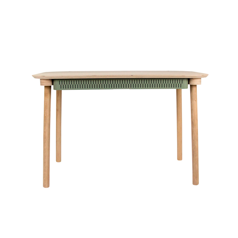 Bureau en chêne avec tiroir vert