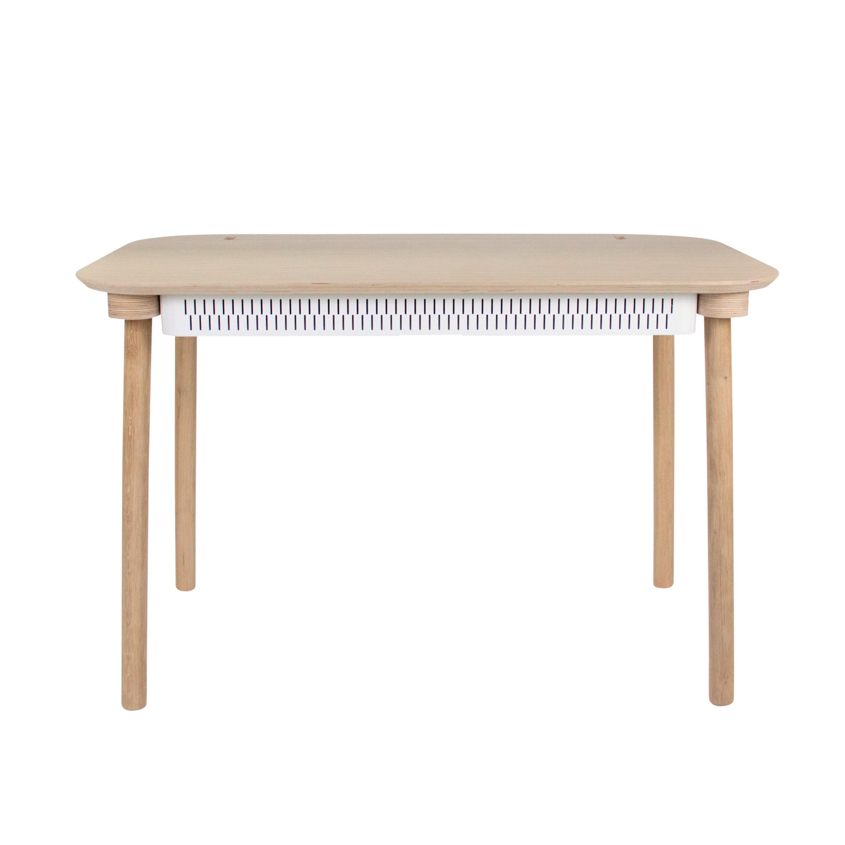 Bureau en chêne avec tiroir blanc
