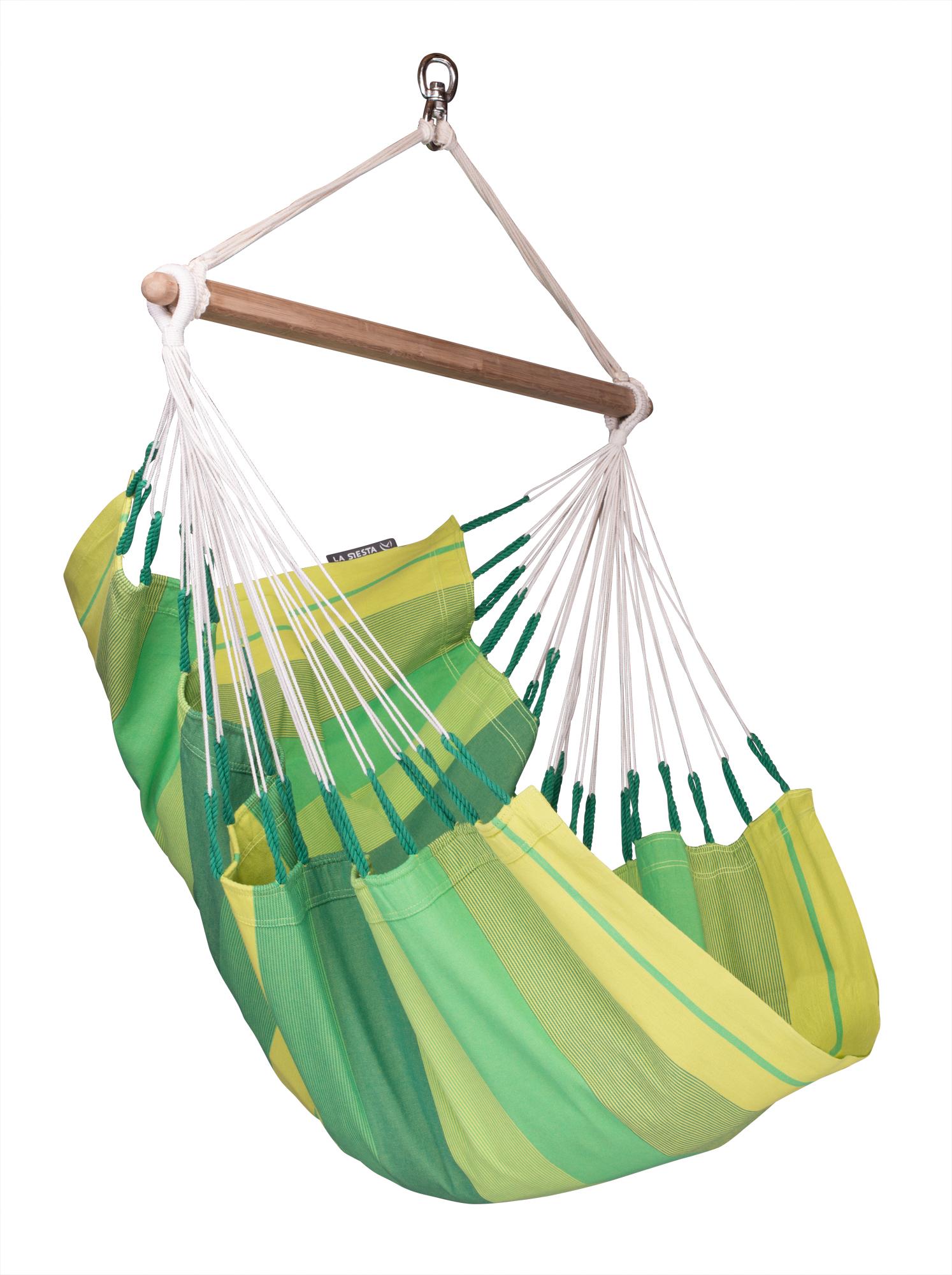 Chaise-hamac avec joyeux motif rayé vert