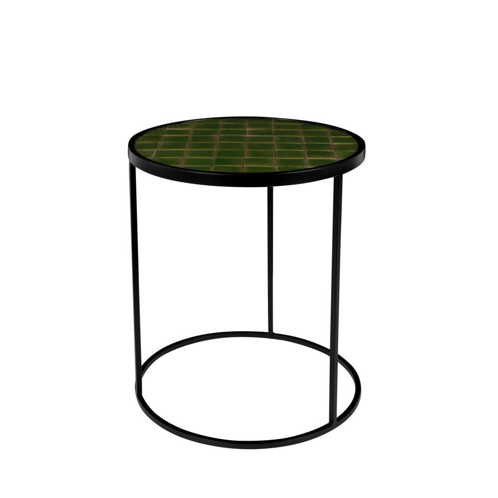 Table d'appoint ronde D40cm vert