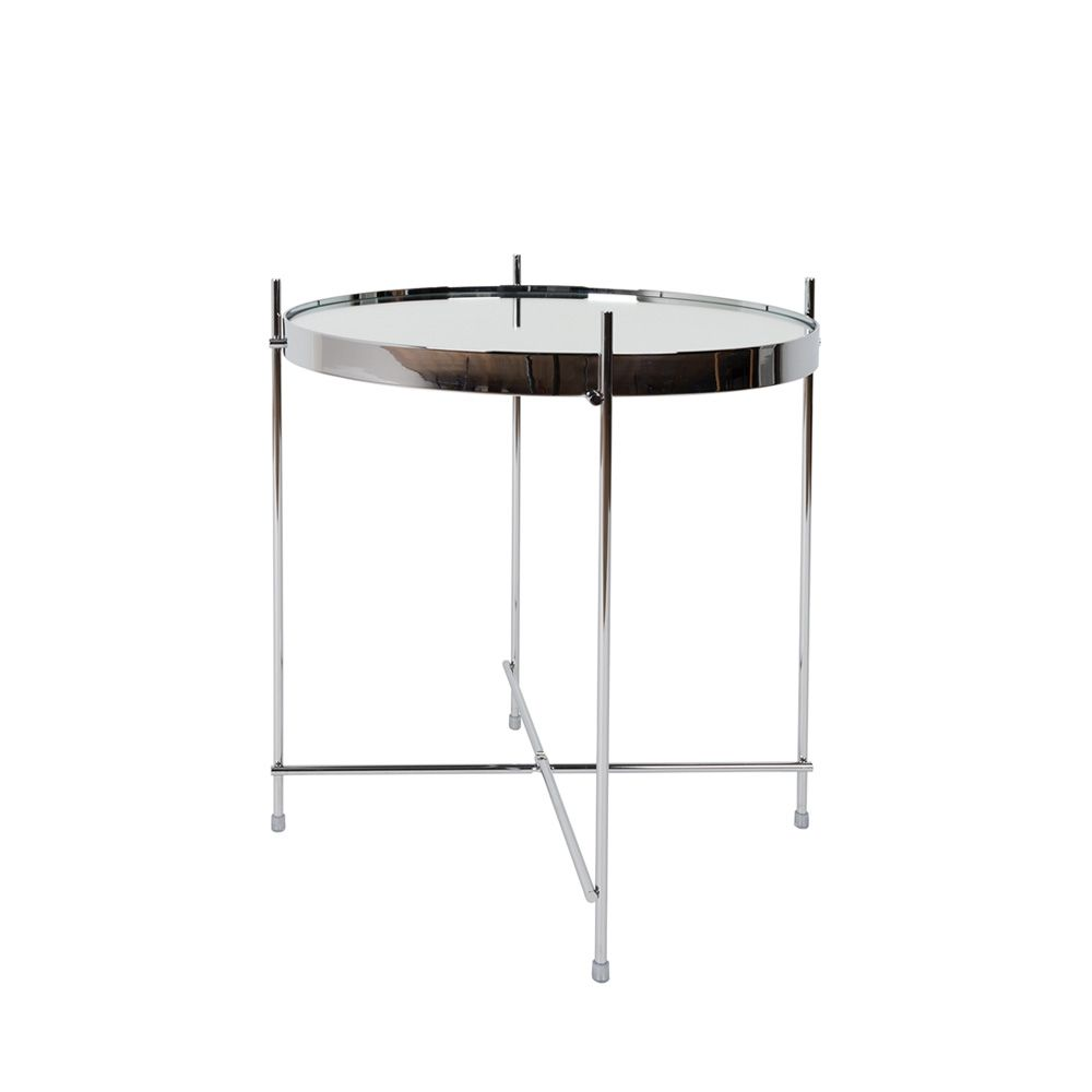 Table basse design ronde Small argent