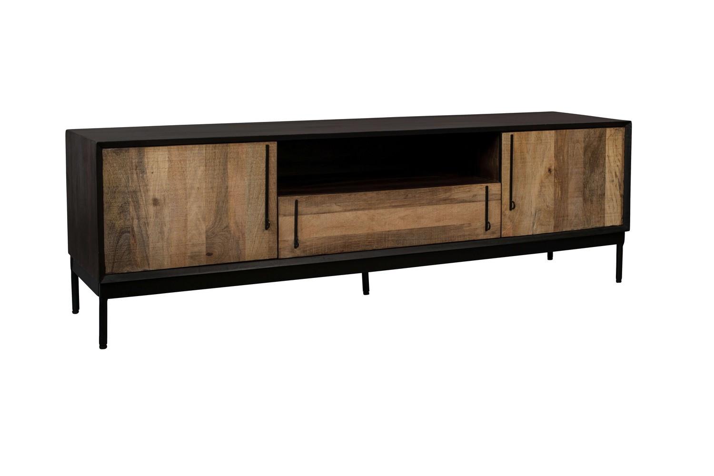 Meuble TV en bois et acier