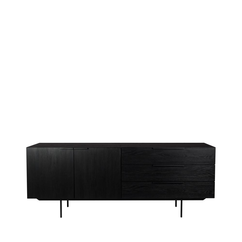Buffet design en bois noir
