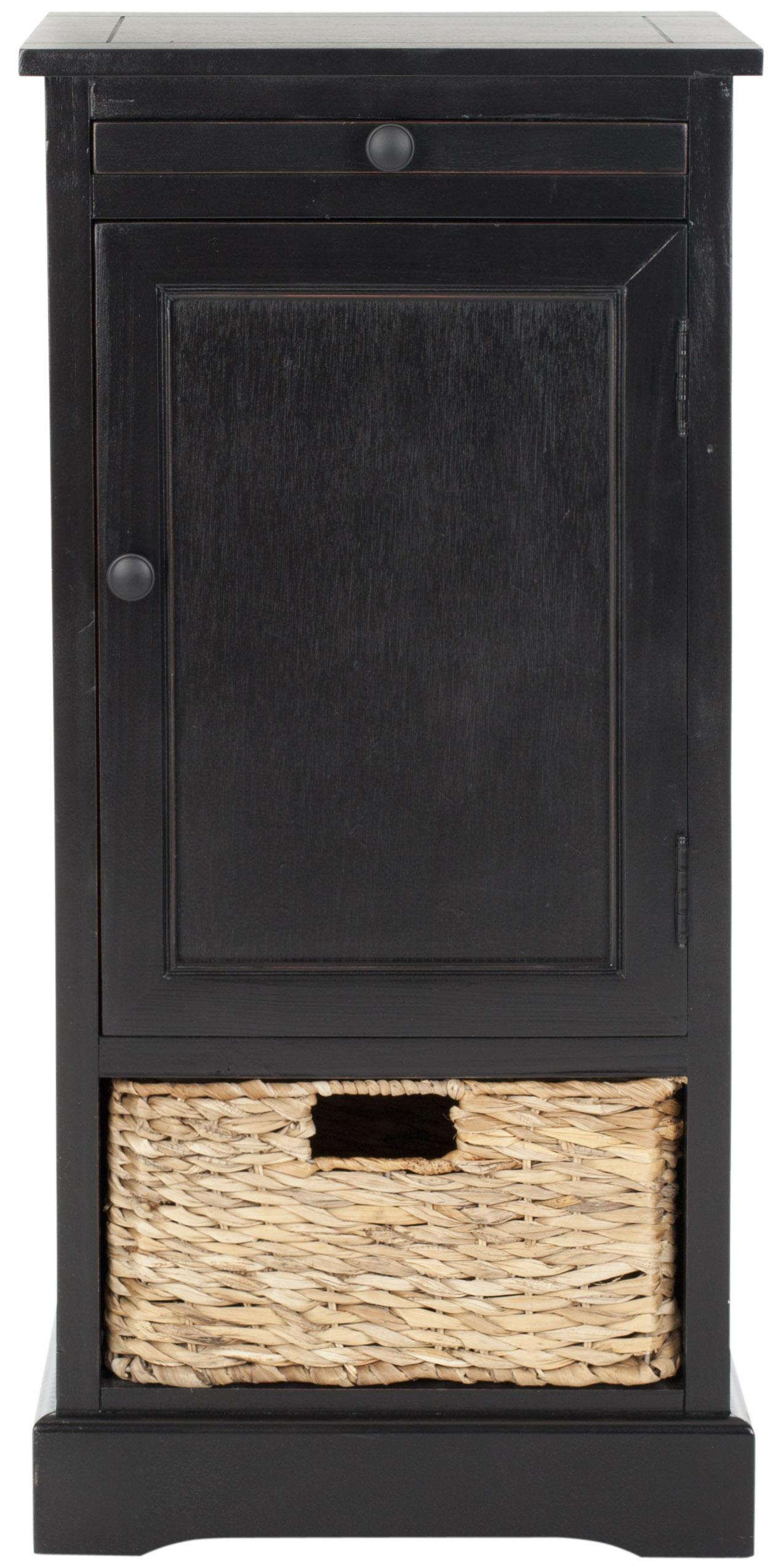 Table d'appoint en bois de pin noir délavé