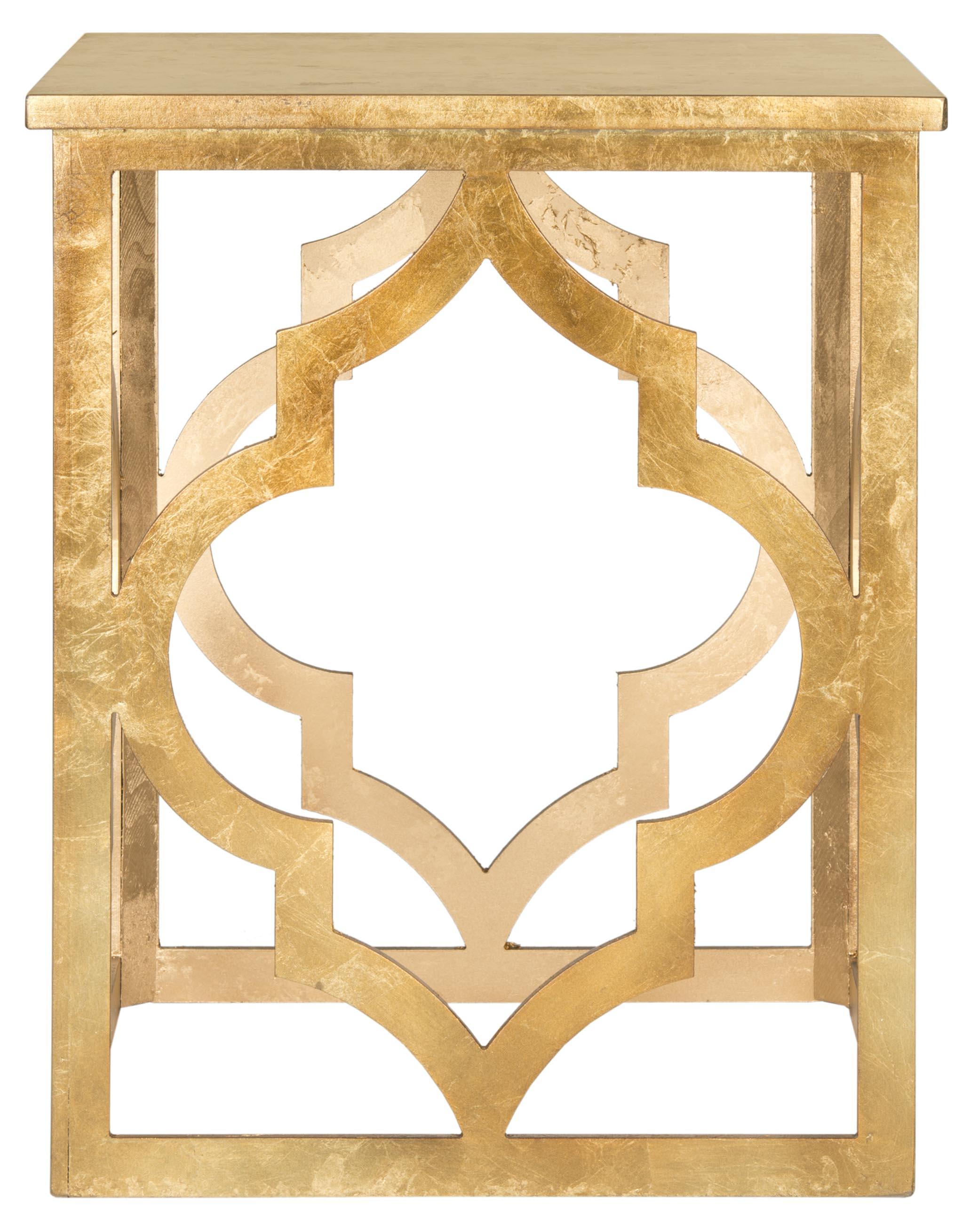 Table d'appoint en bois de sapin doré