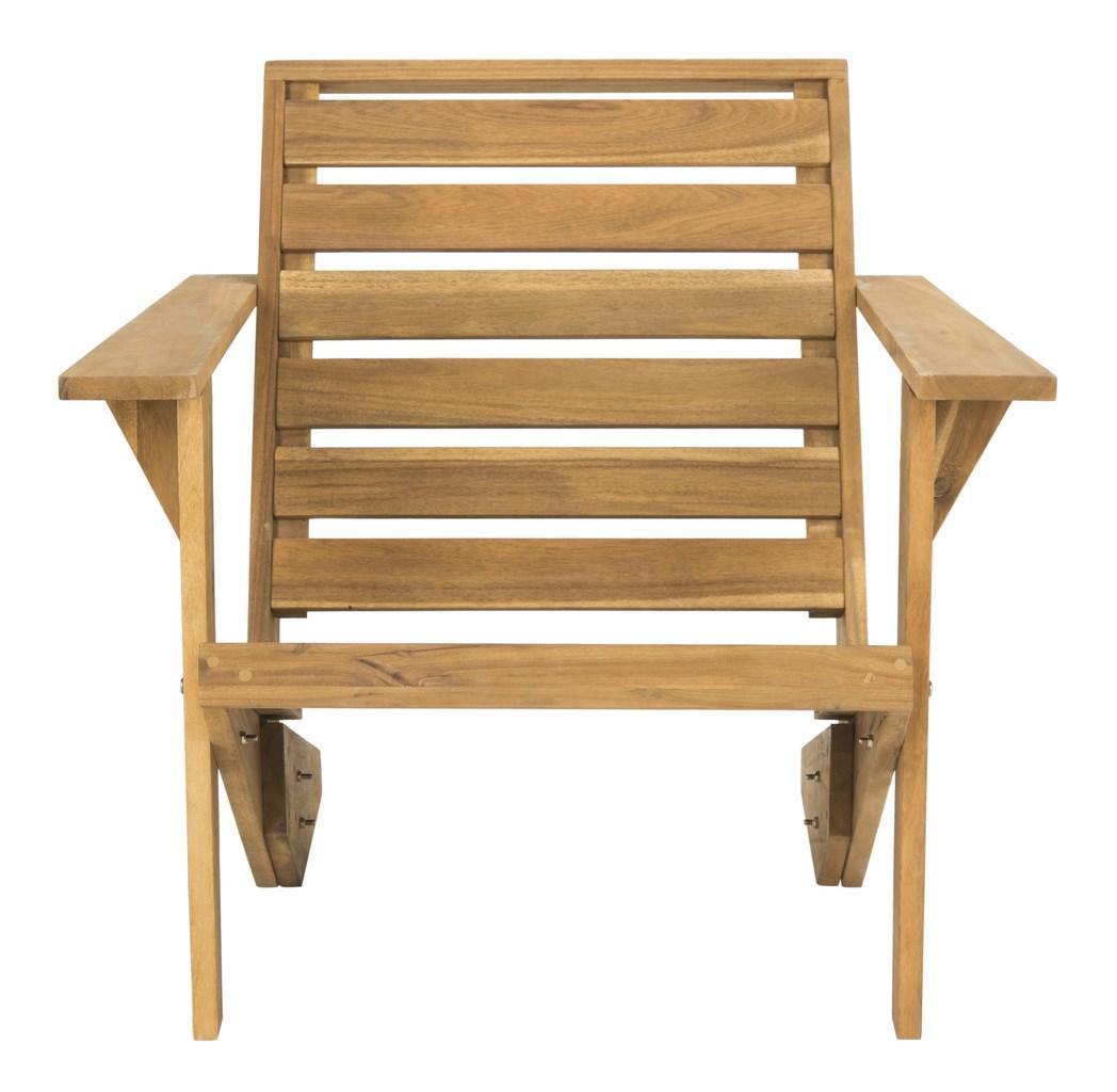 Fauteuil intérieur/extérieur en bois d'acacia marron