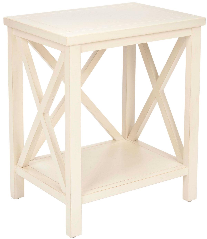 Table d'appoint en bois de peuplier beige