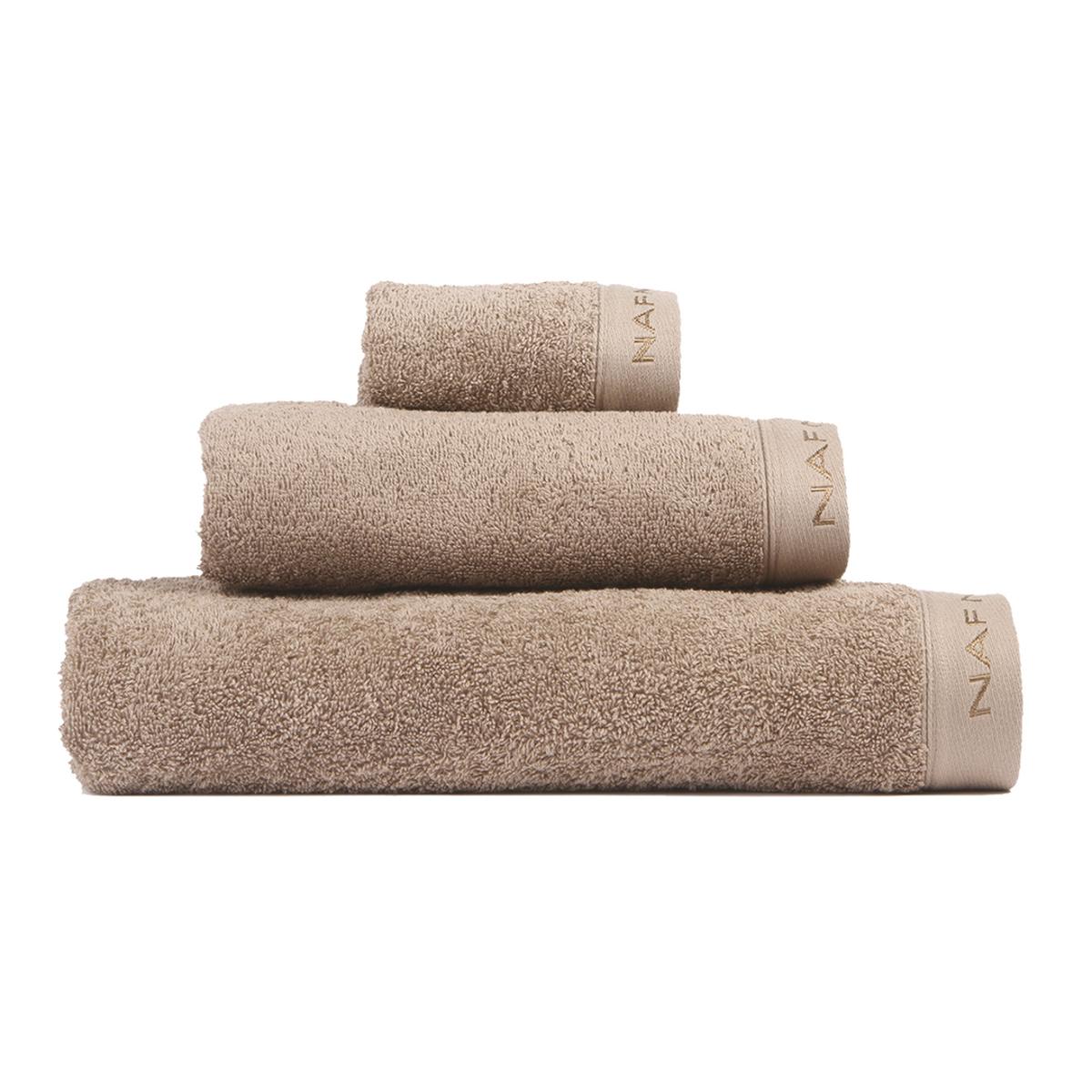 CASUAL - Set de bain trois pièces marron