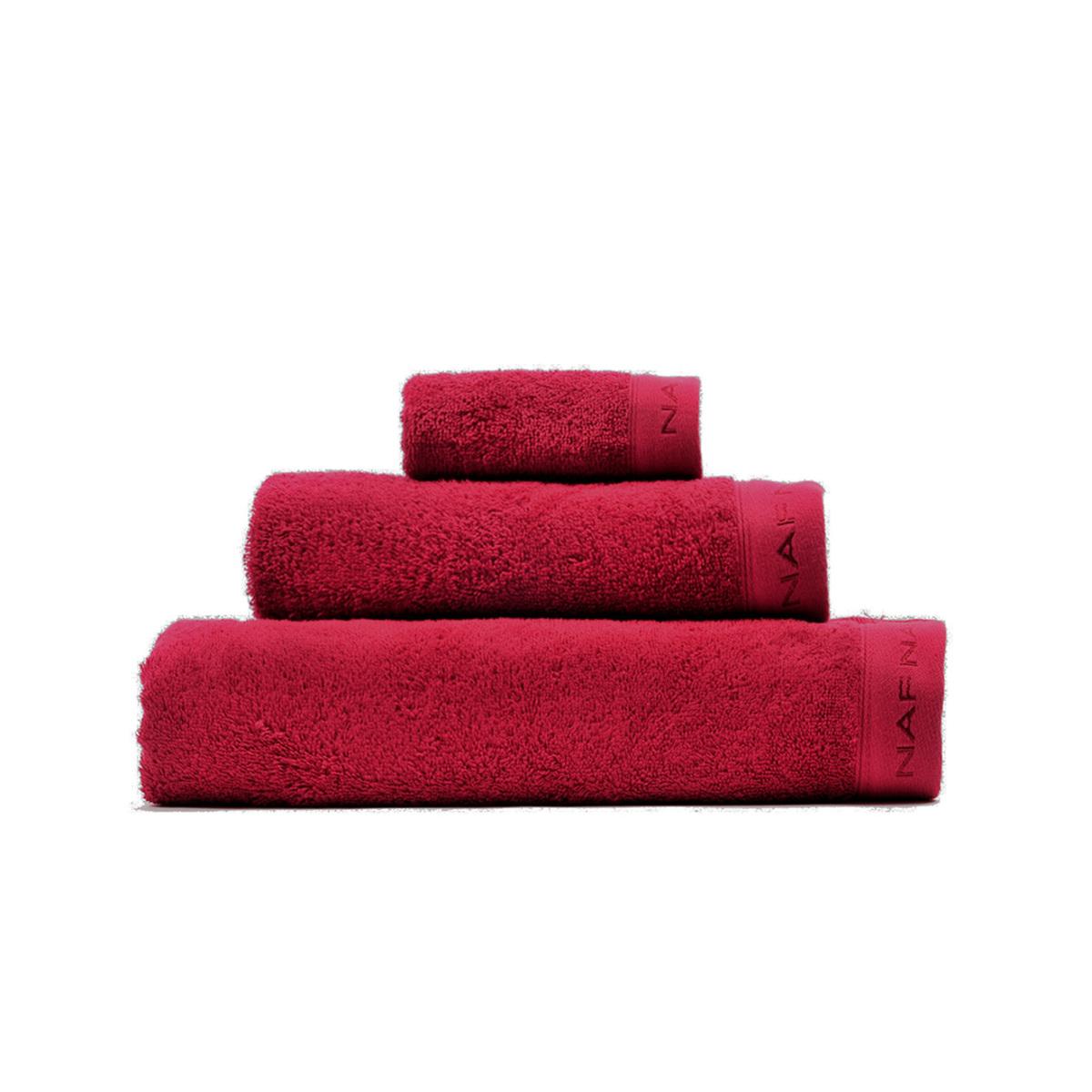 CASUAL - Set de bain trois pièces  bordeaux