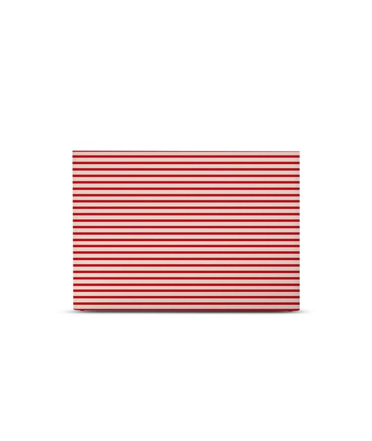 Tête de lit avec housse Rouge cadnium 140 cm