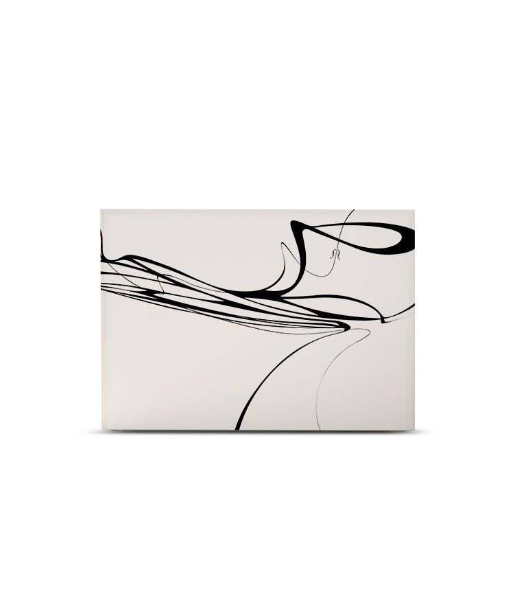 Tête de lit avec housse Blanc 140 cm
