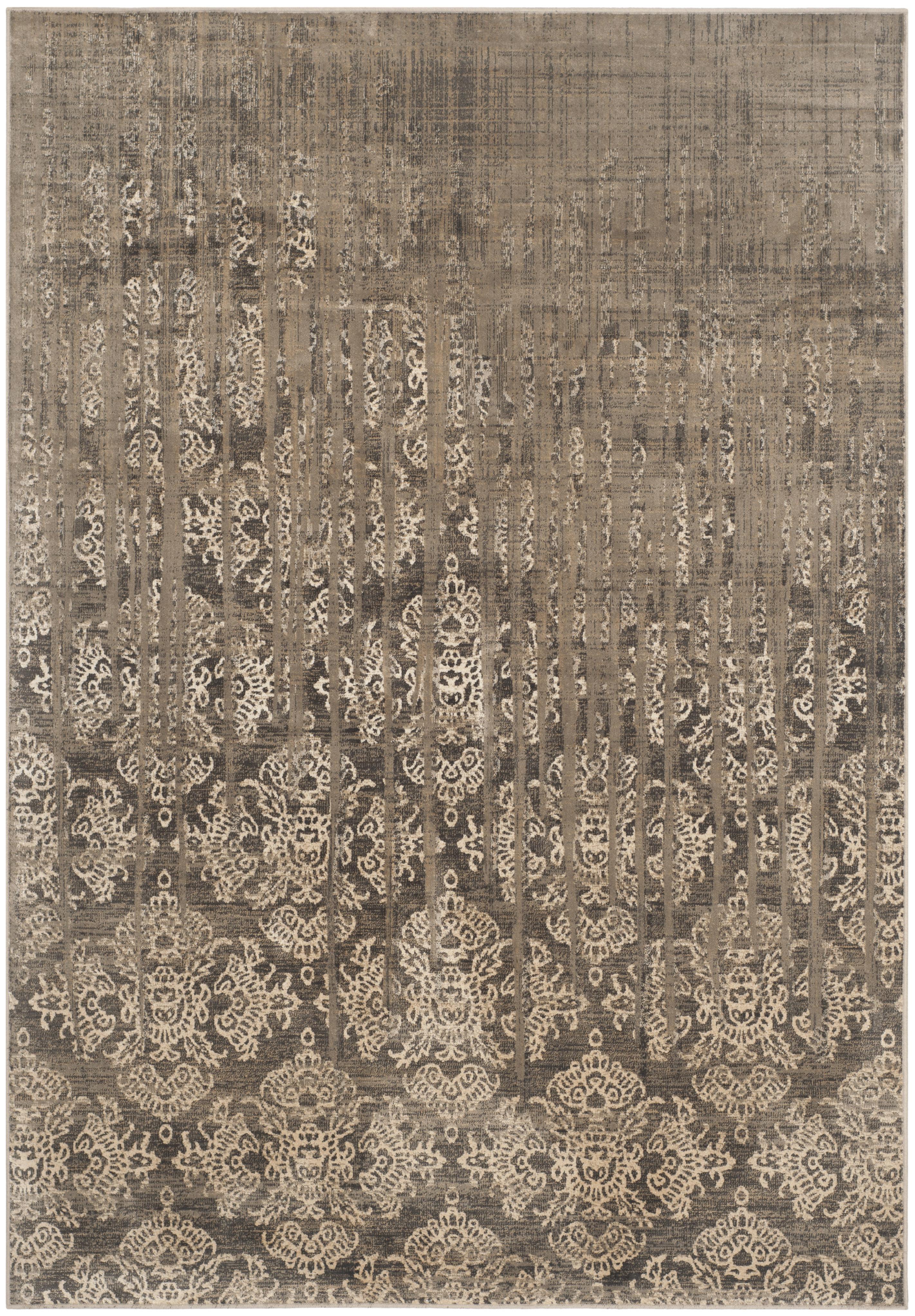 Tapis de salon d'inspiration vintage beige 120x170