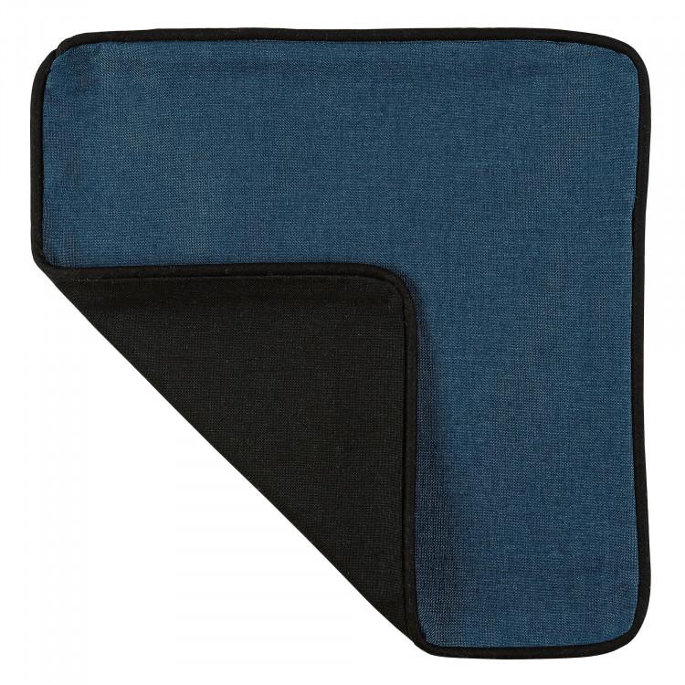 Housse de coussin en 100% coton bleu 40x40