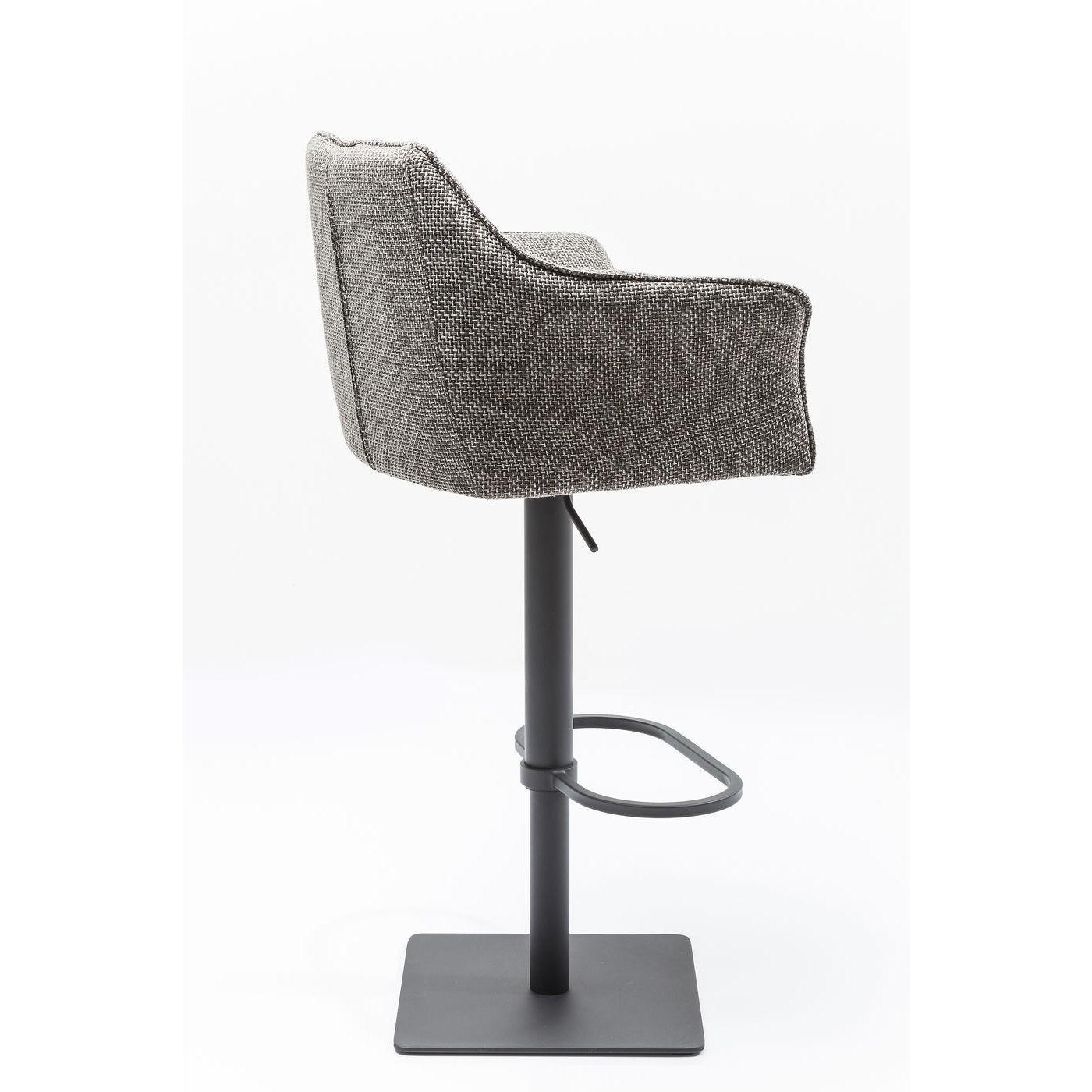 Tabouret de bar réglable gris et acier