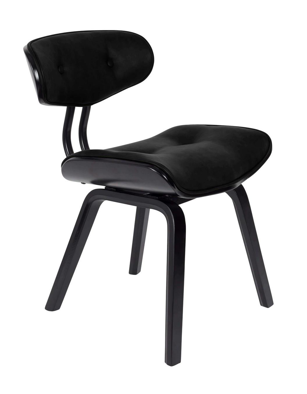 Chaise aspect cuir noir
