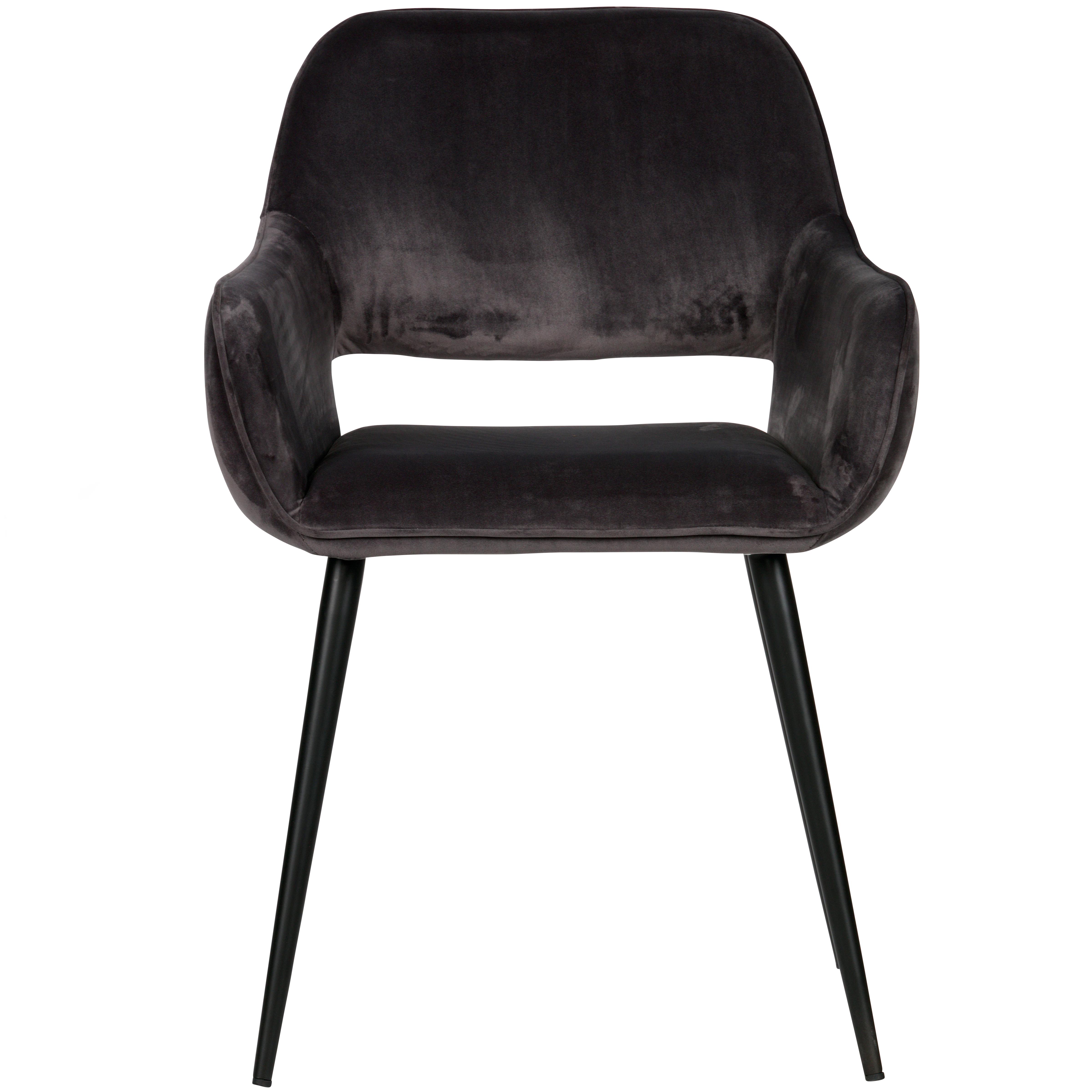 maison du monde 2 fauteuils de table en velours gris