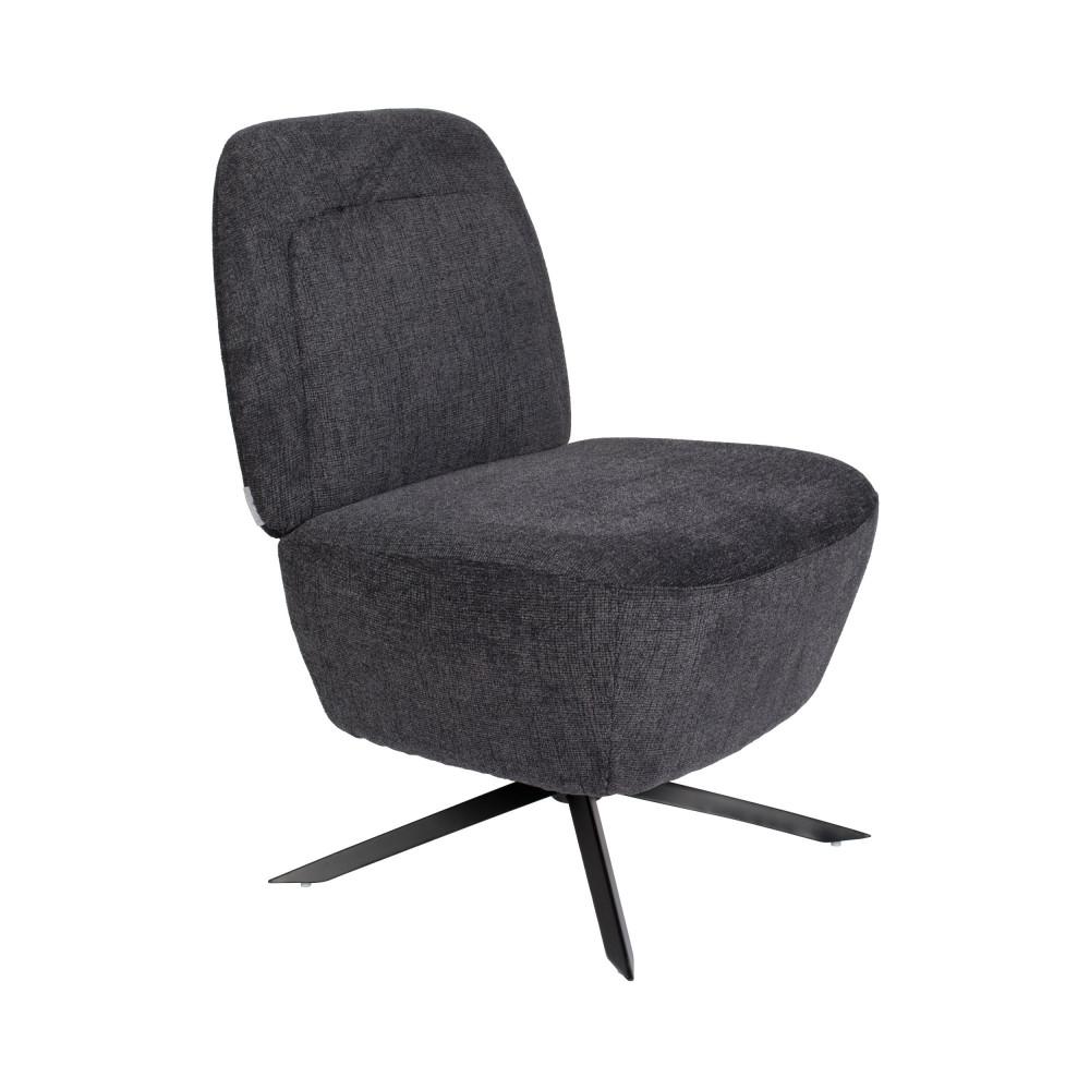 Fauteuil Lounge en tissu gris