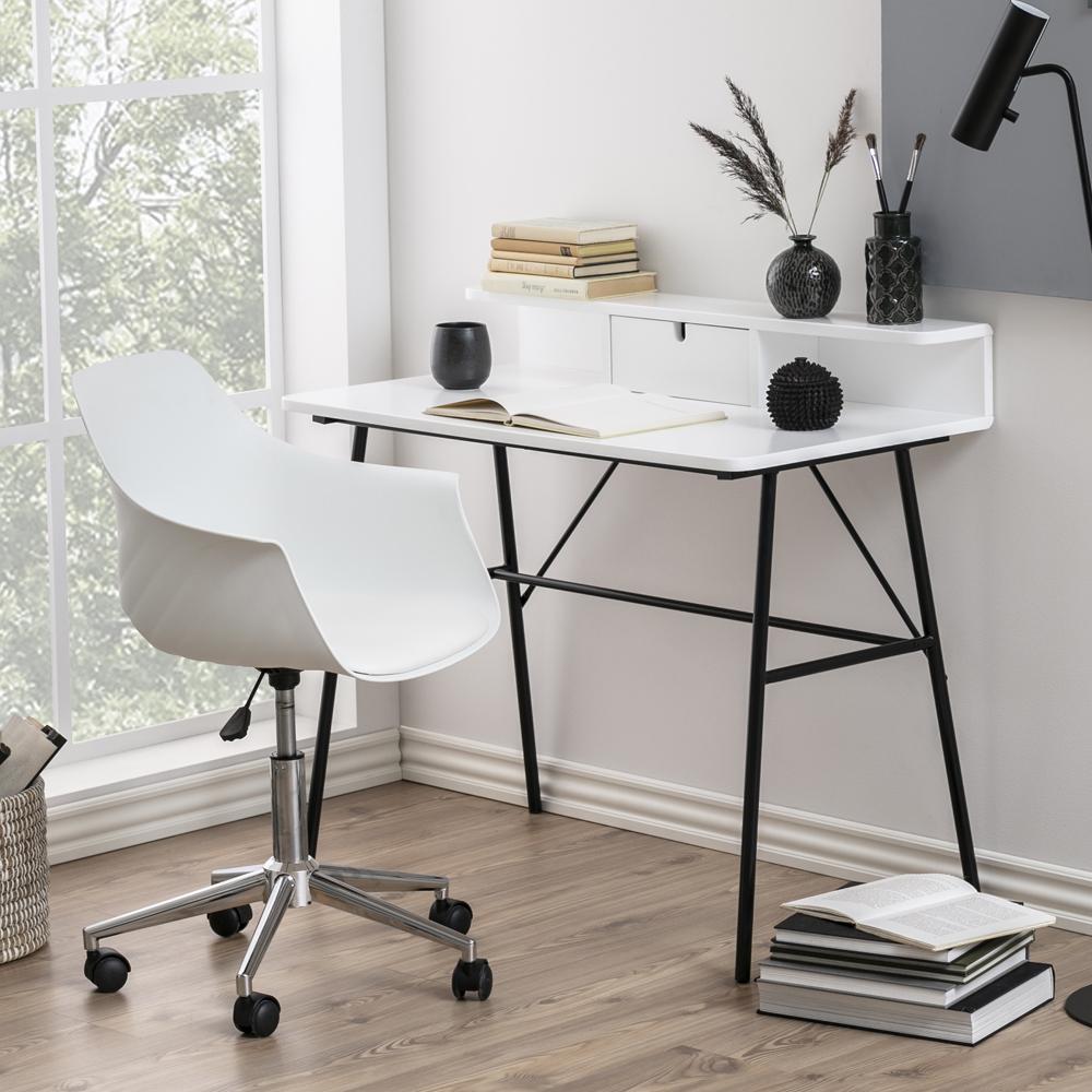 Bureau tiroir 100 cm pieds noirs en métal