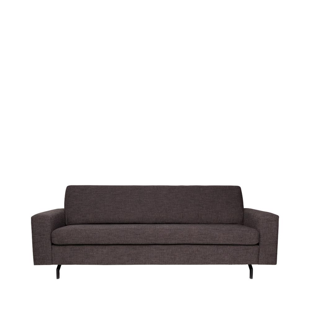 Canapé droit 3 places Noir Tissu Contemporain Confort