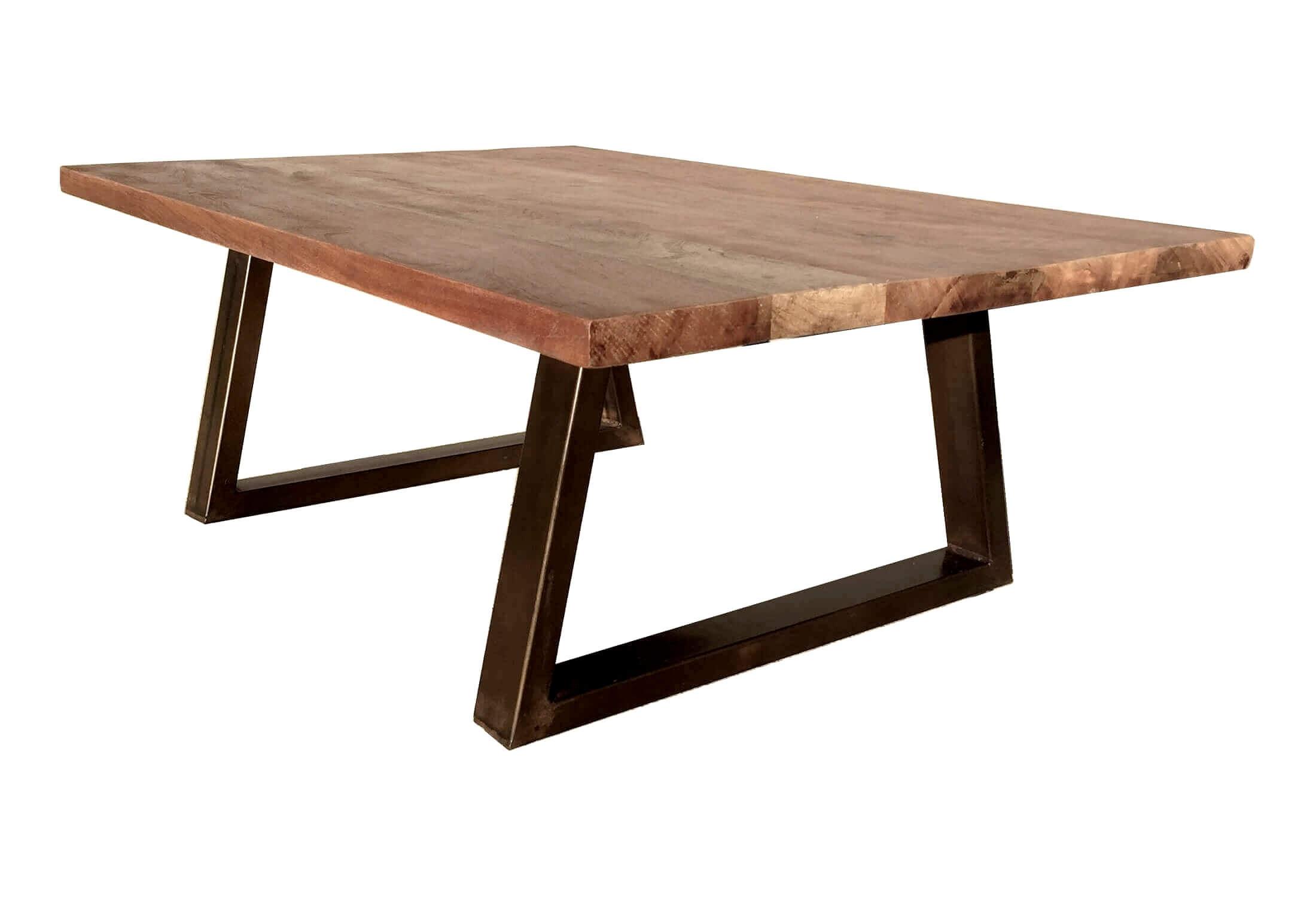 Table basse de salon en bois marron