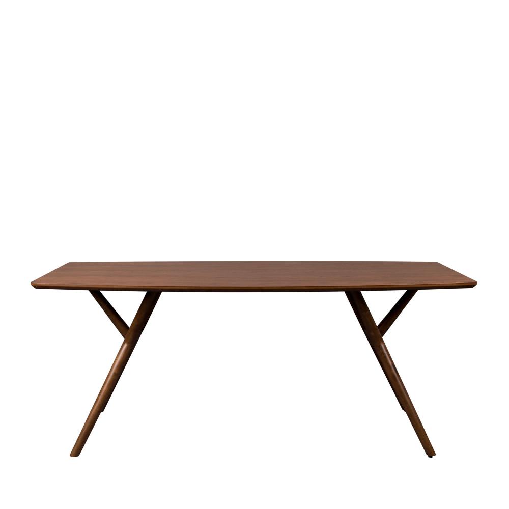 Table à manger en bois 180x90cm bois foncé