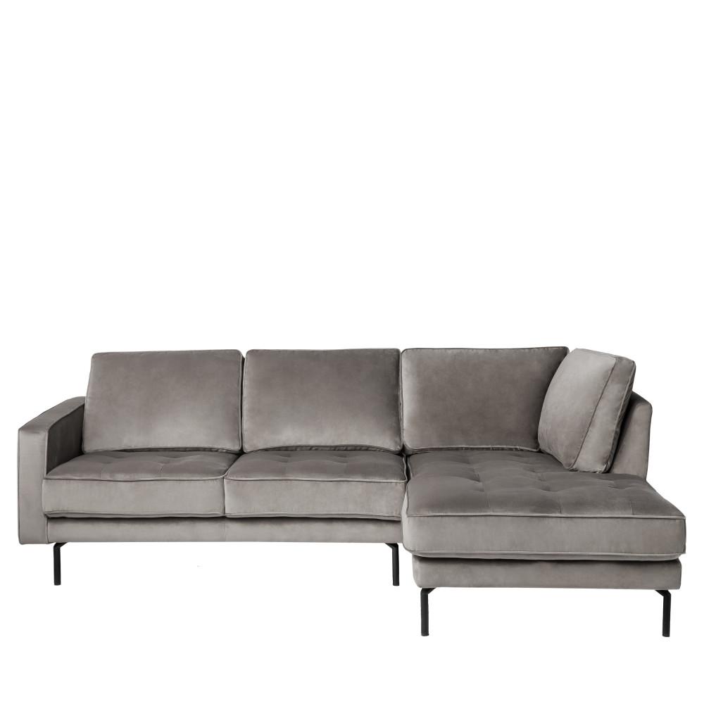 Canapé d'angle Noir Velours Design Grand