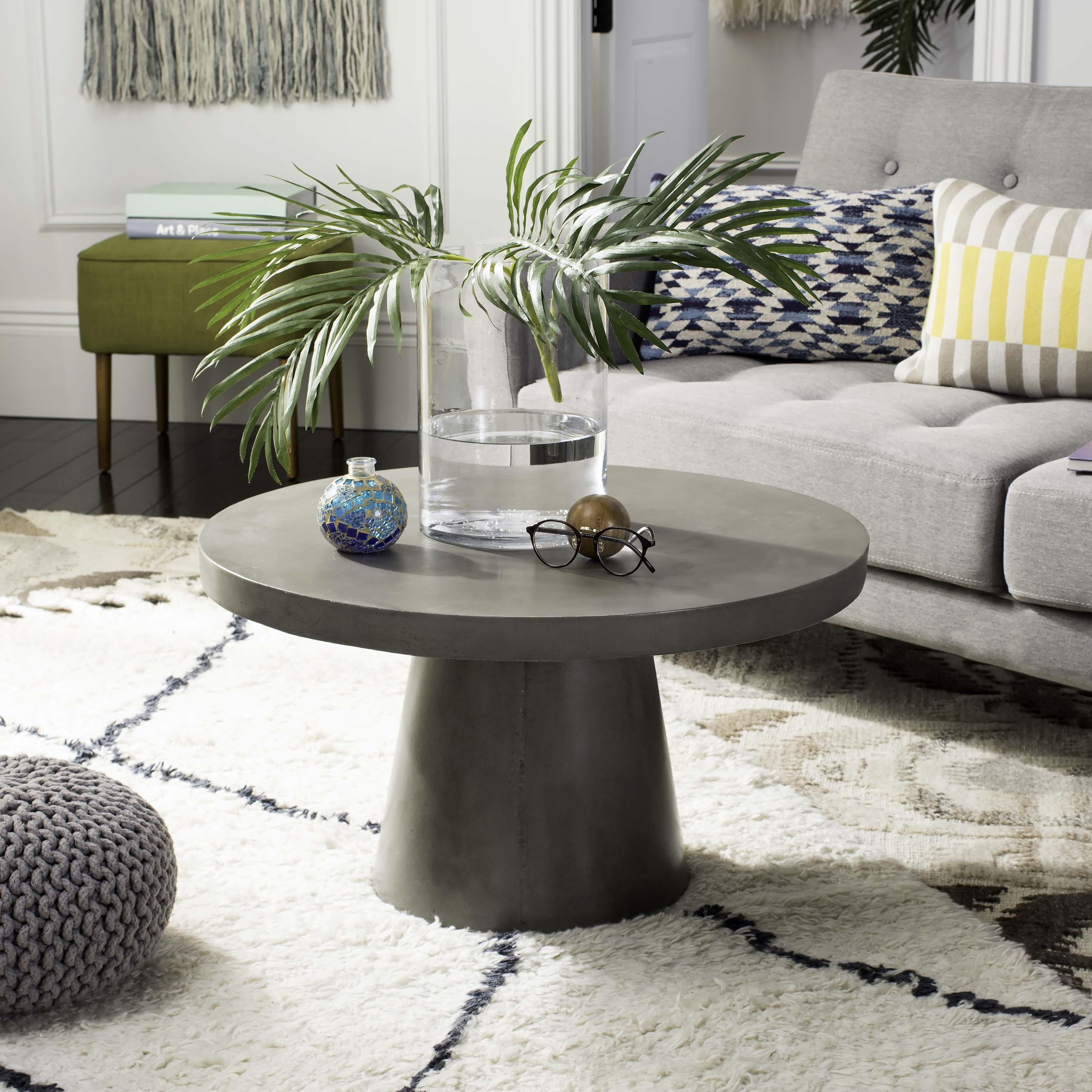 Table de basse intérieur/extérieur en béton gris foncé