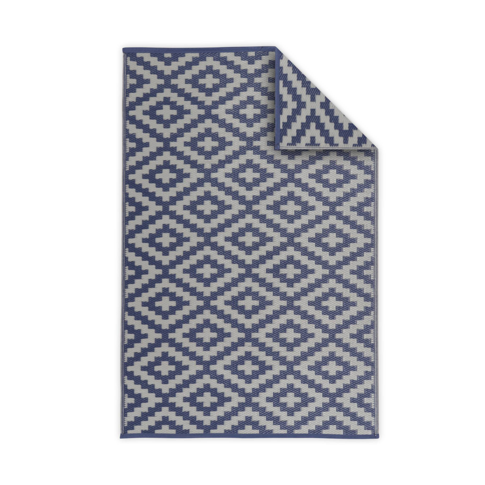 Tapis d'extérieur 180x270cm rectangulaire motif losange