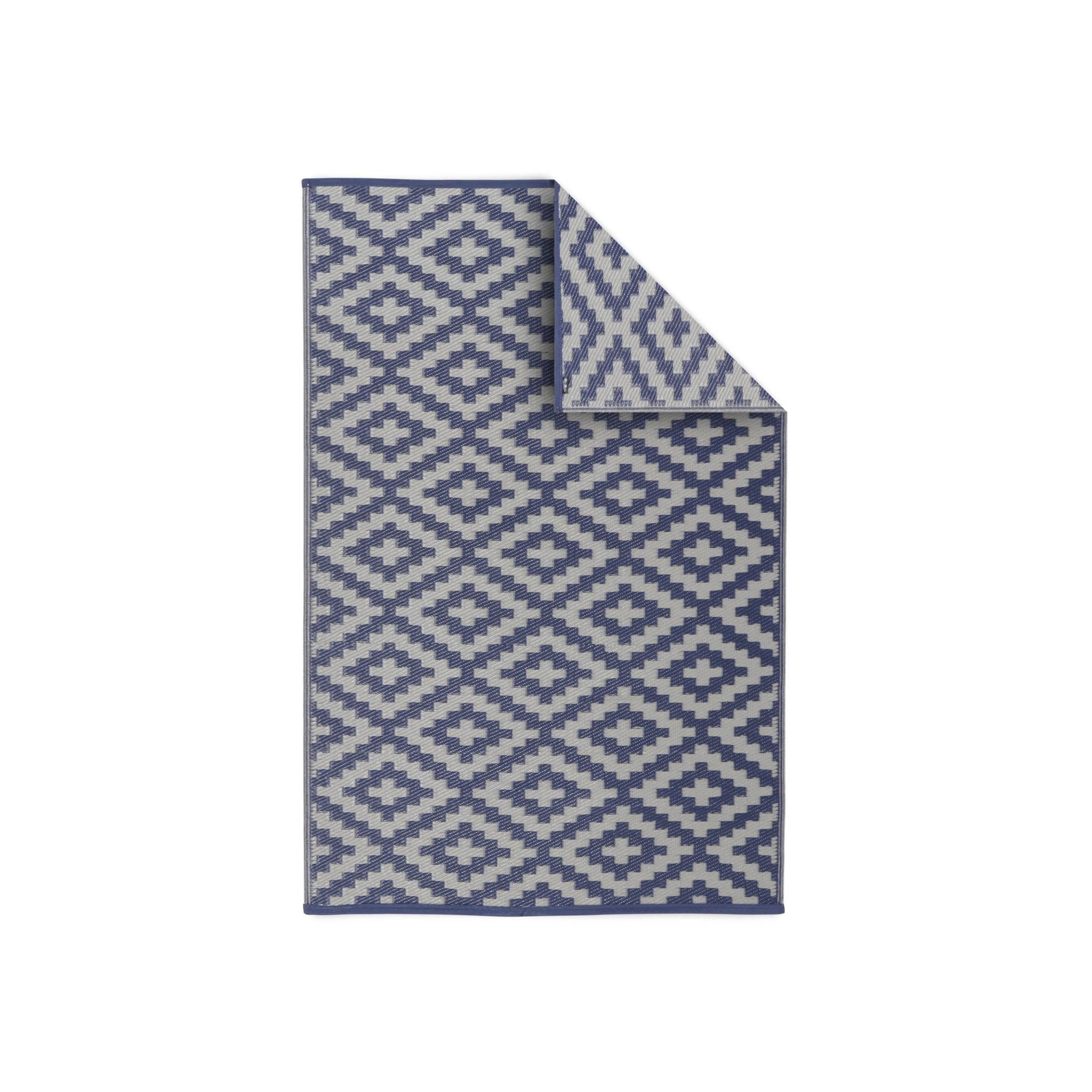 Tapis d'extérieur 120x180cm rectangulaire motif losange