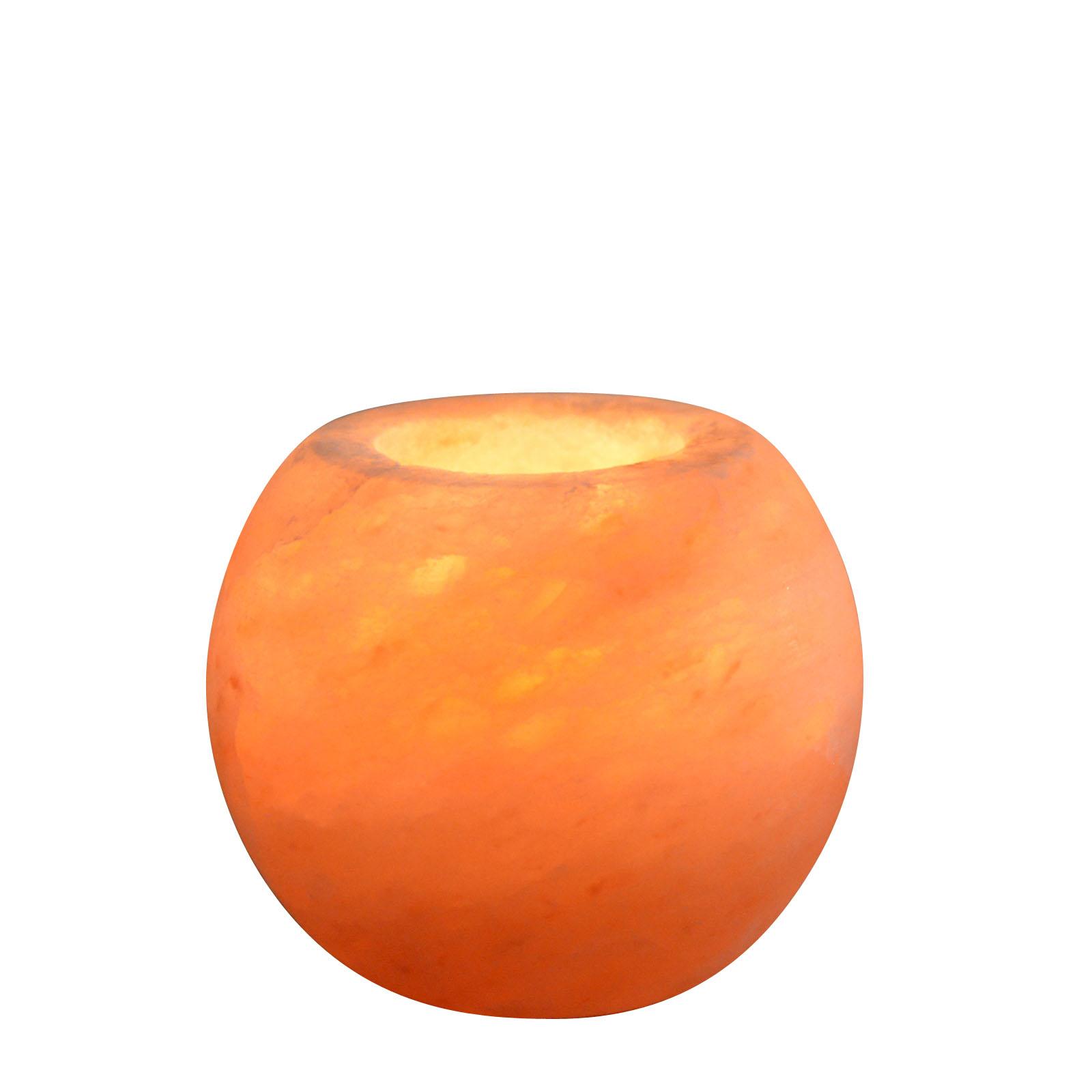 Bougeoir en cristal de sel Himalaya sphère 900g