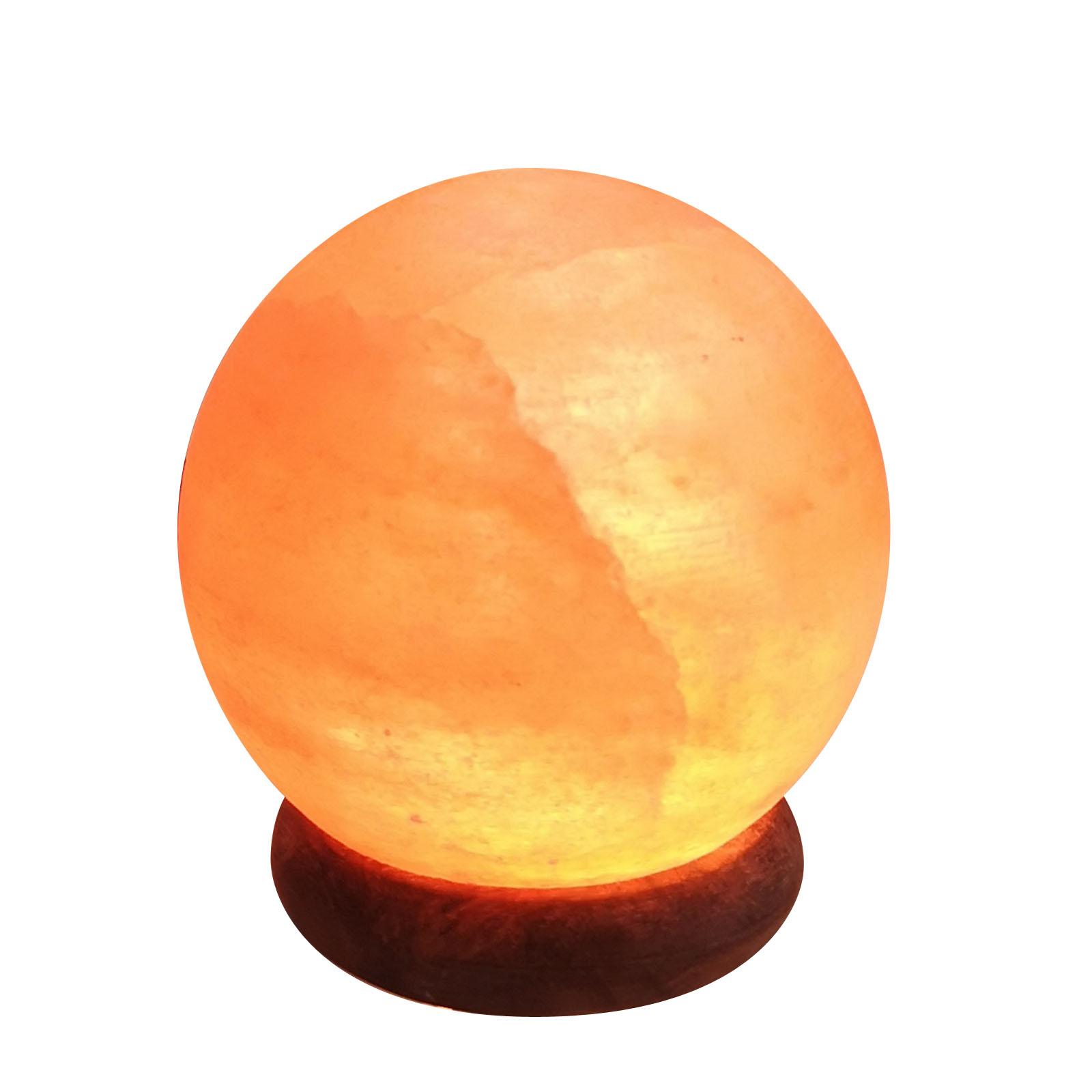 Lampe USB en cristal de sel d'Himalaya sphère