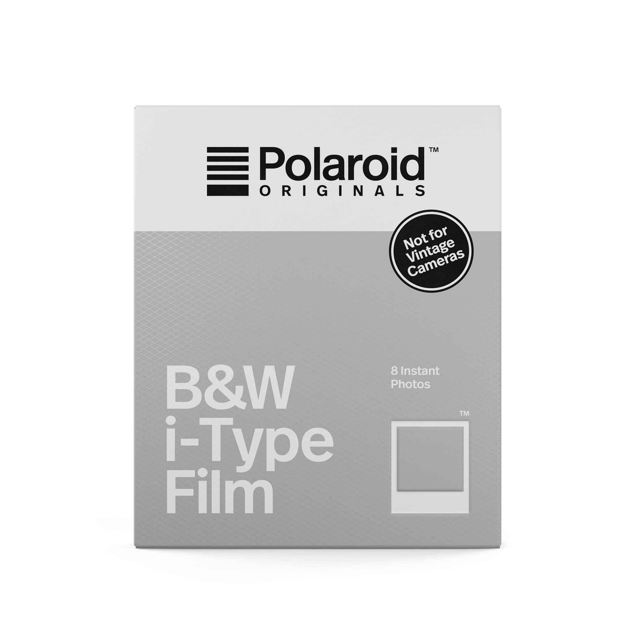 Papier photo instantané noir et blanc Polaroid 8 feuilles pour i-Type
