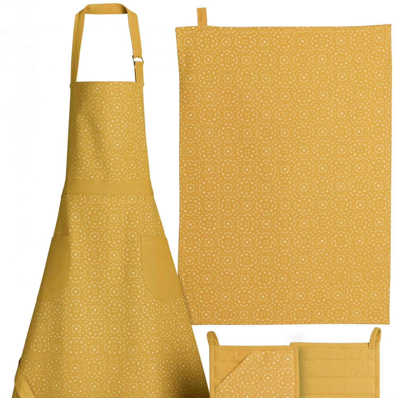 Torchon en 100% coton jaune 50x70