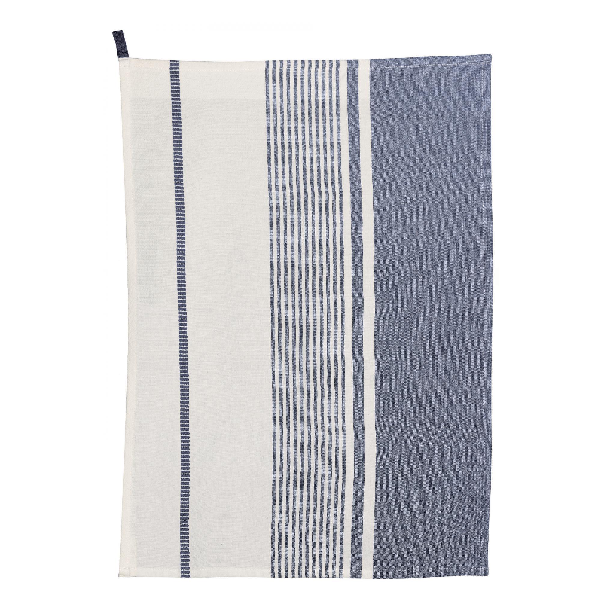 Torchon en coton gris 50x70