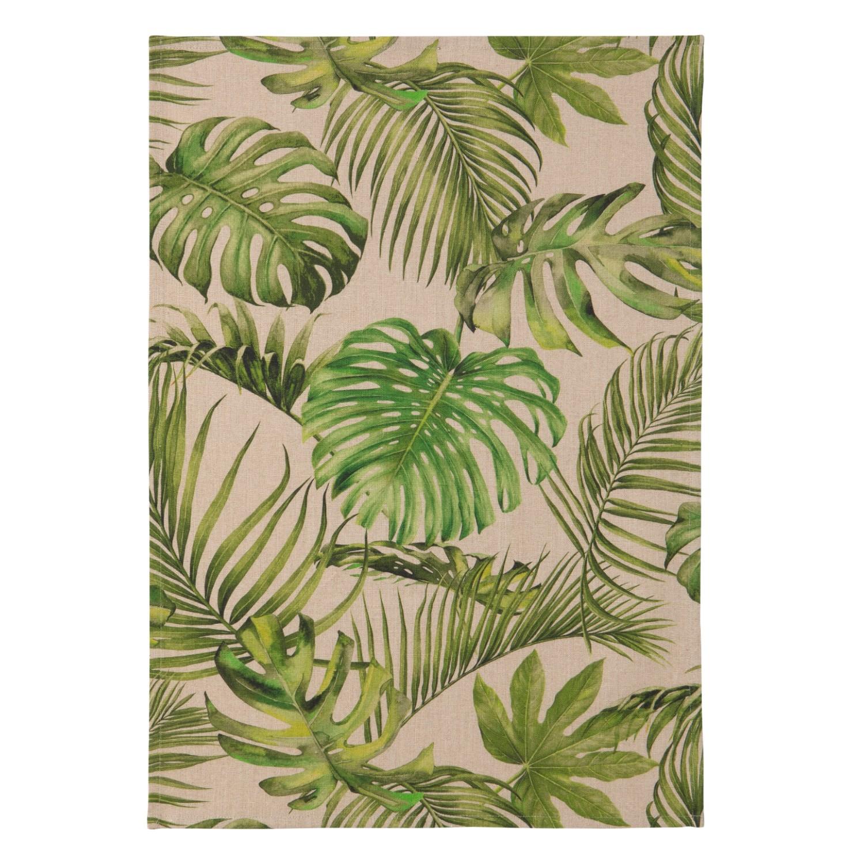 Torchon jungle en lin 50x75