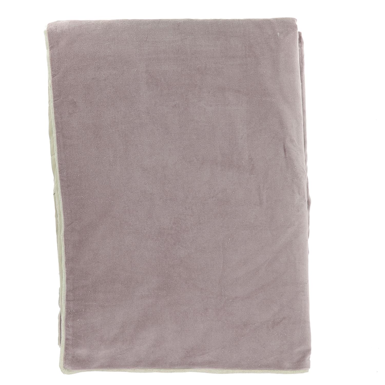 Edredon en velours de coton 90x200 cm lilas