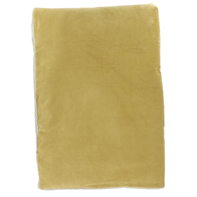 Edredon en velours de coton 90x200 cm tabac