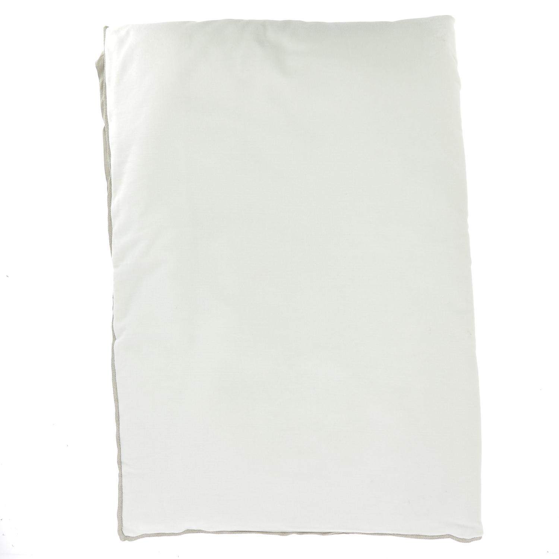 Edredon en velours de coton 90x200 cm écru