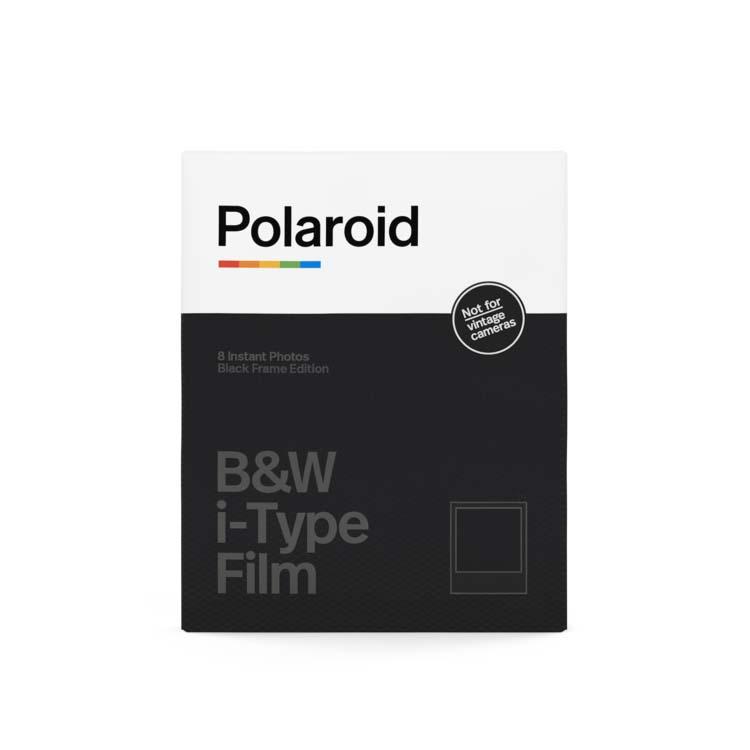 Papier photo instantané Polaroid 8 feuilles cadre noir pour i-Type