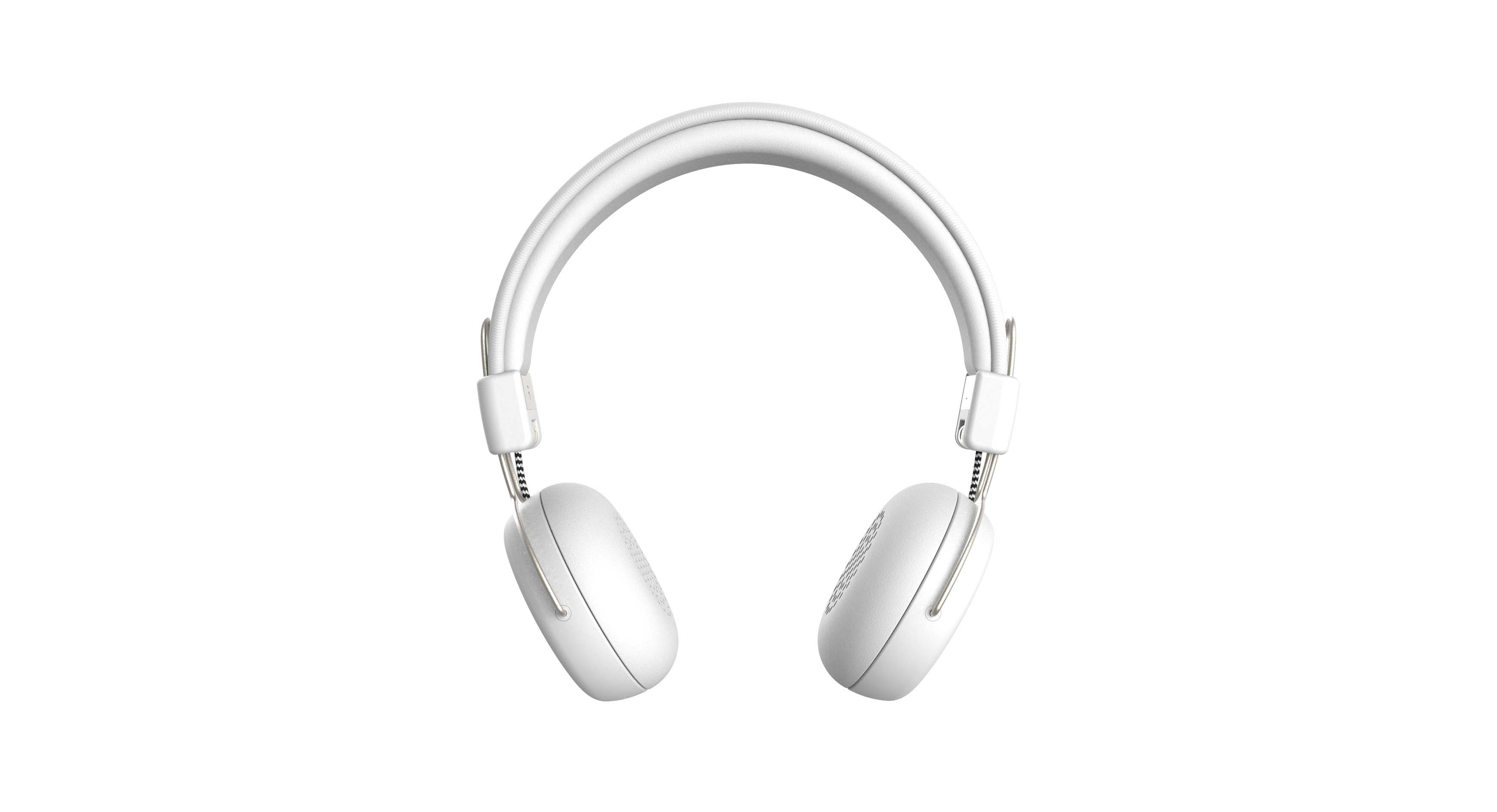 Casque audio bluetooth blanc