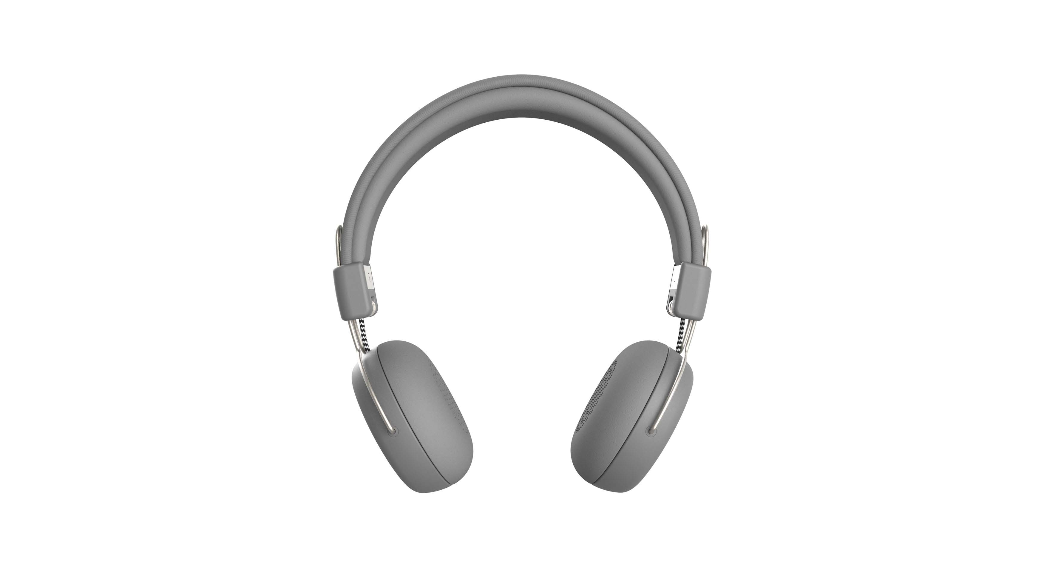 Casque audio bluetooth gris