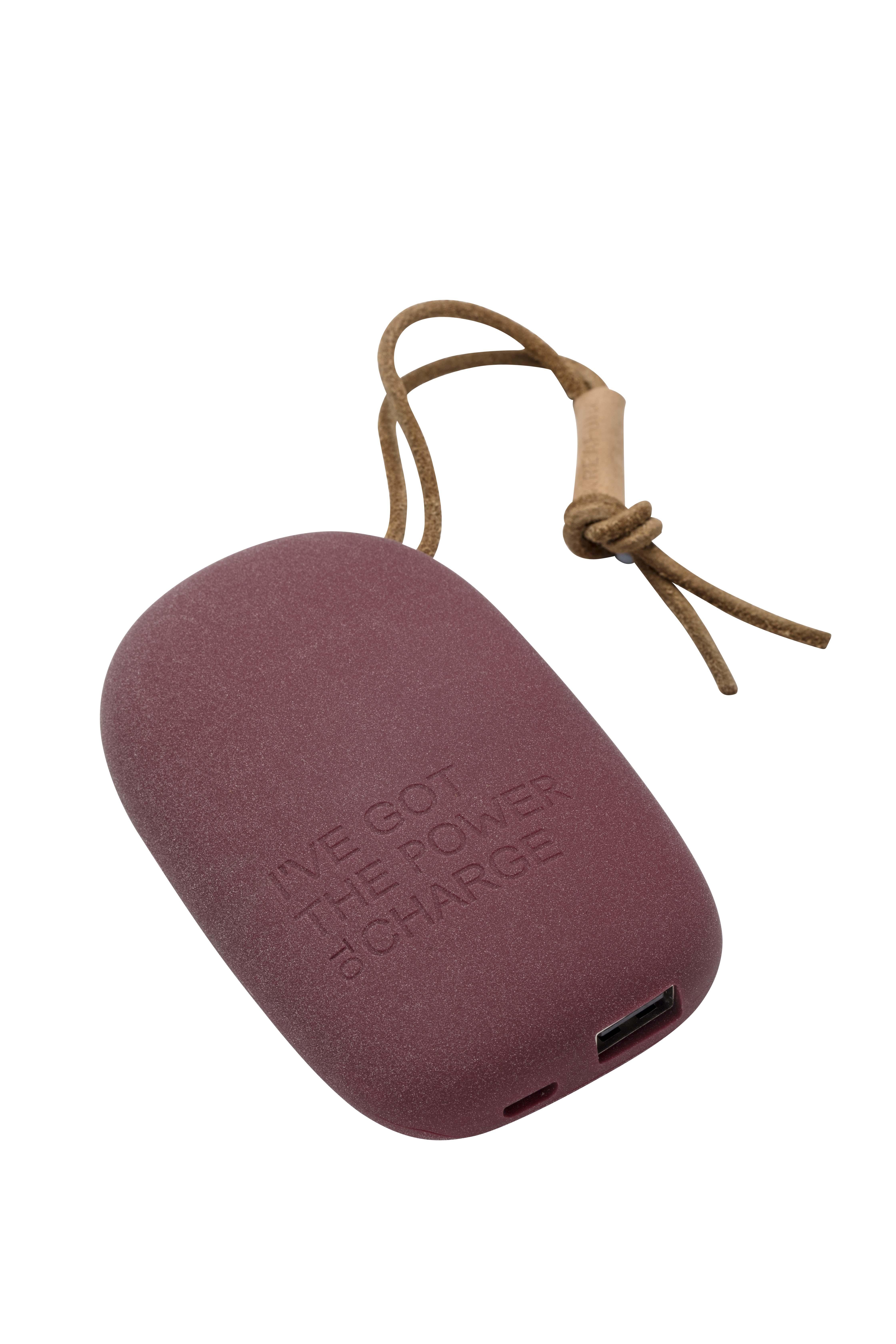 Batterie externe portable violet