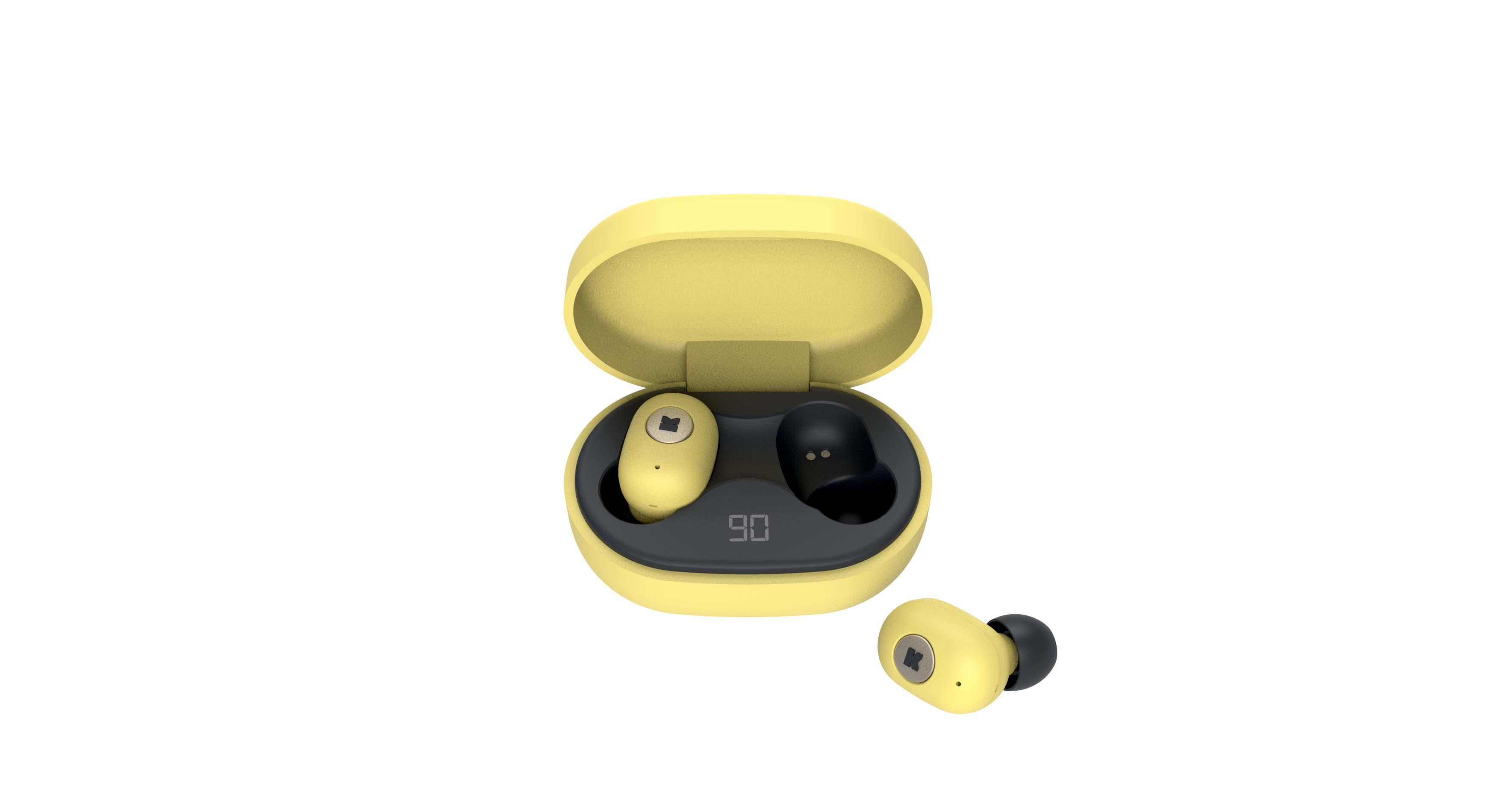 Écouteurs bluetooth TWS jaune