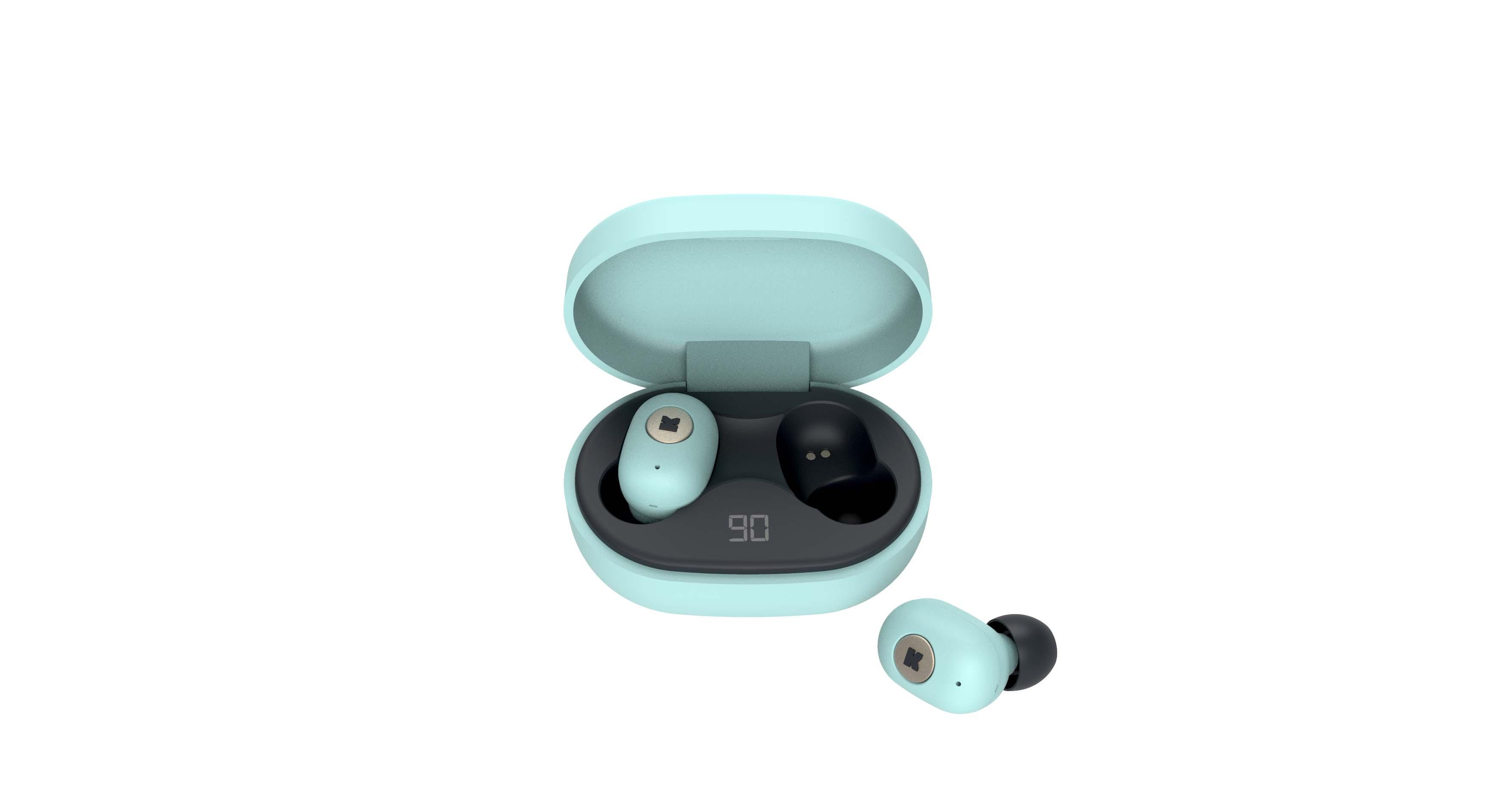 Écouteurs bluetooth TWS vert d'eau