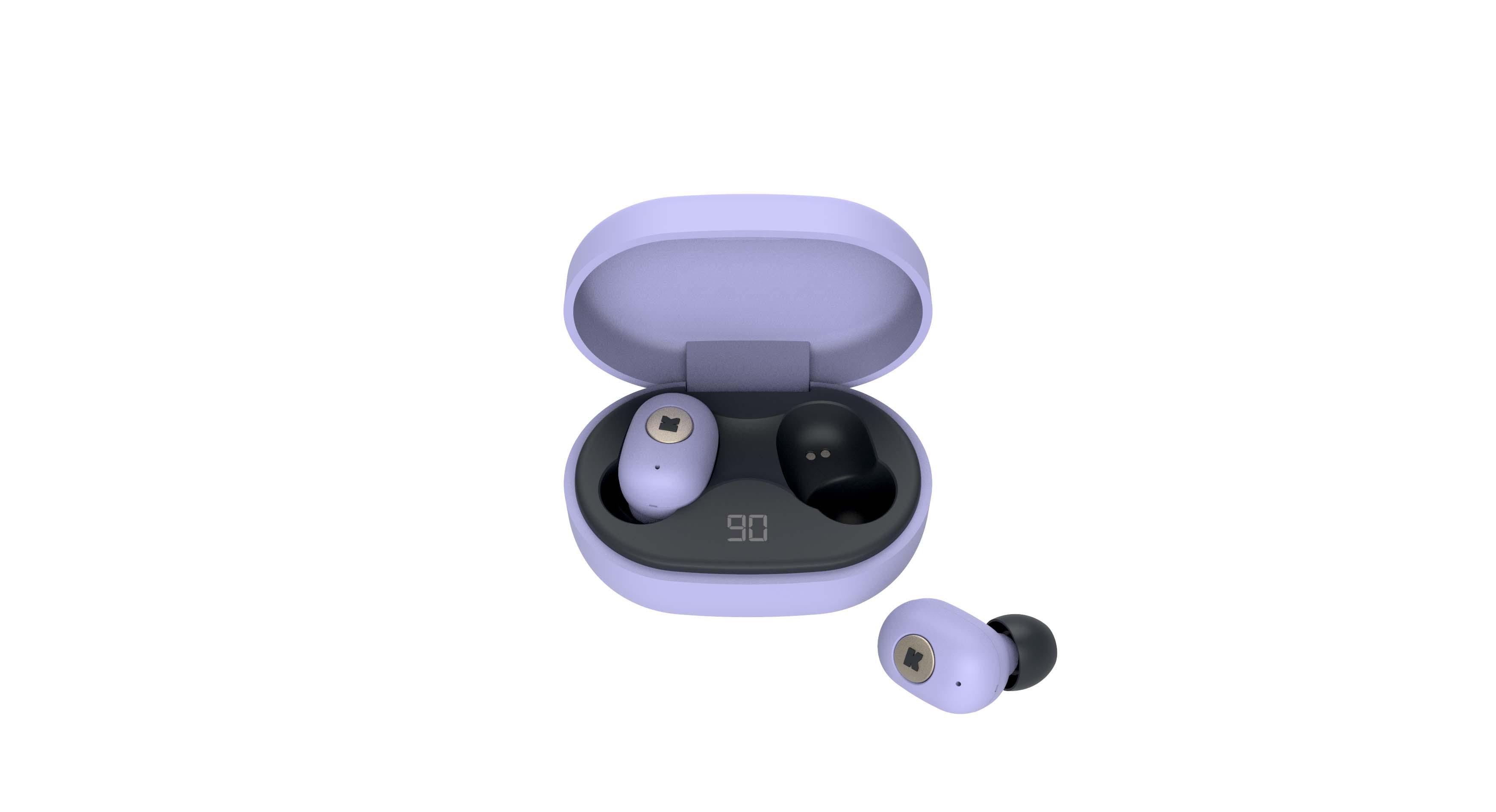 Écouteurs bluetooth TWS lavande