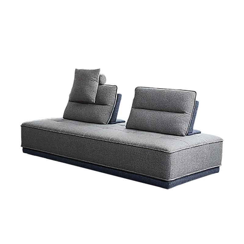 Canapé modulable 3 places Bleu Tissu Contemporain Confort