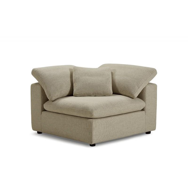Module angle beige pour canapé composable plume