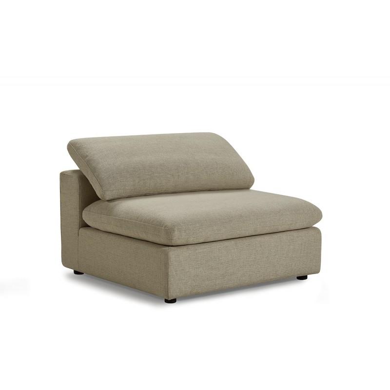 Module chauffeuse beige pour canapé composable plume