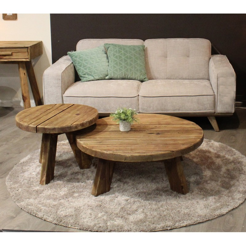 Table basse ronde 90 cm