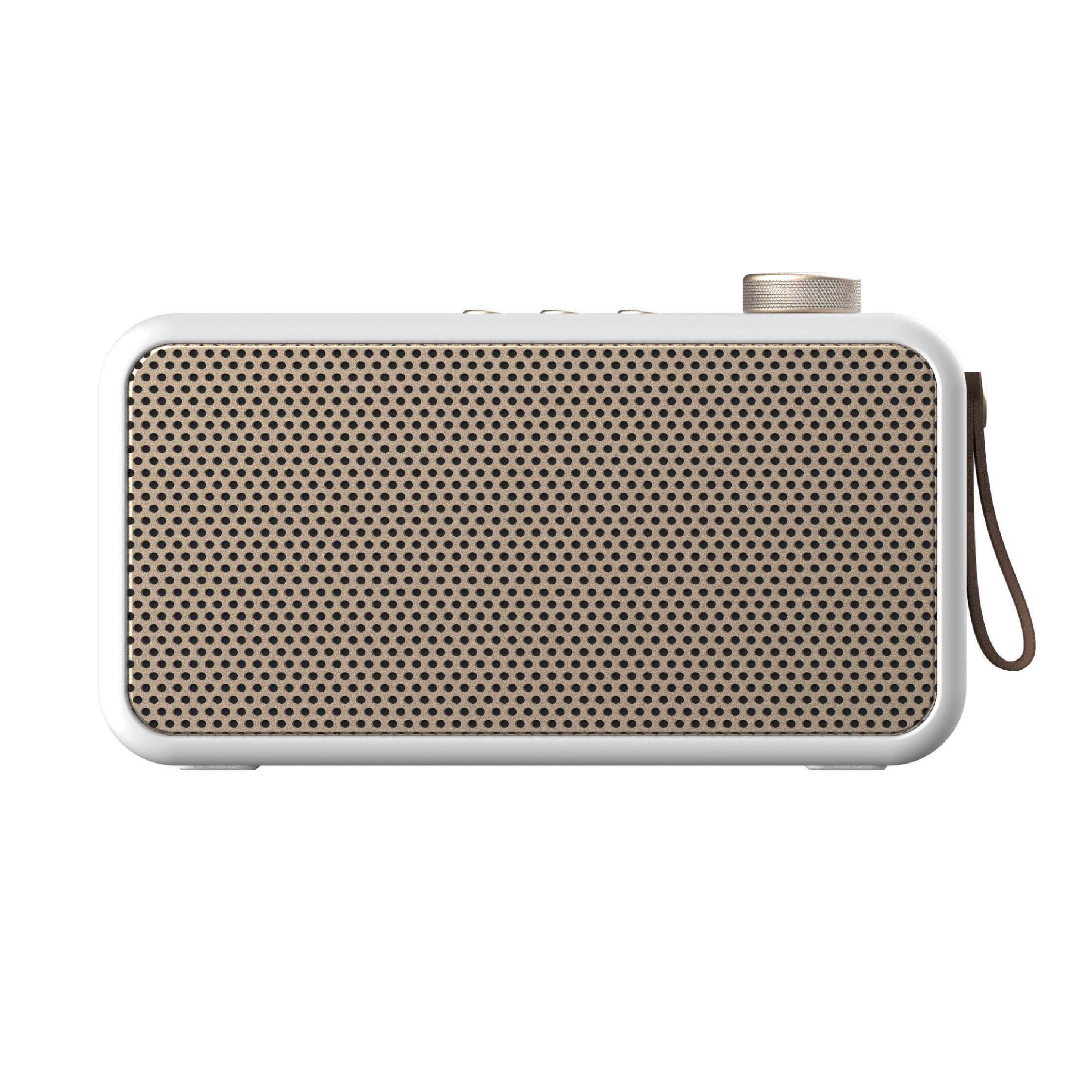 Enceinte bluetooth avec radio FM blanc